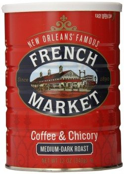 FRENCH MARKET Coffee and Chicory, Medium-Dark Roast, 12 Ounce Can Deal