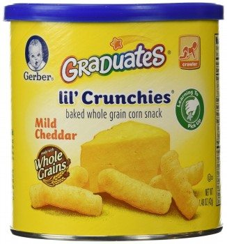 Gerber Graduates Lil' Crunchies, Mild Cheddar, 1.48-Ounce Canisters (Pack of 6) Deal