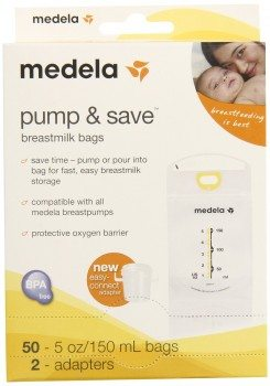 Medela Pump and Save Breast Milk Bags, 50 Count Deal