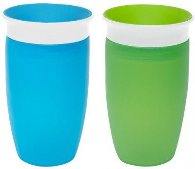 Munchkin Miracle 360 Sippy Cup, Green Blue, 10 Ounce, 2 Count Deal