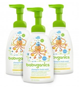 Babyganics Baby Shampoo + Body Wash, Fragrance Free, 16oz Pump Bottle (Pack of 3) Deal