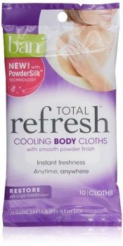Ban Total Refresh Cooling Body Cloths, Restore, 10 Count Deal