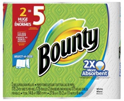 Bounty Select-A-Size Paper Towels, Huge Rolls, White, 12 Count (Packaging May Vary) Deal