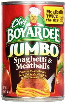 Chef Boyardee Jumbo Spaghetti and Meatballs, 14.5-Ounce Cans (Pack of 12)  Deal