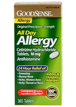 GoodSense All Day Allergy, Cetirizine HCL Tablets, 10 mg, 365 Count Deal