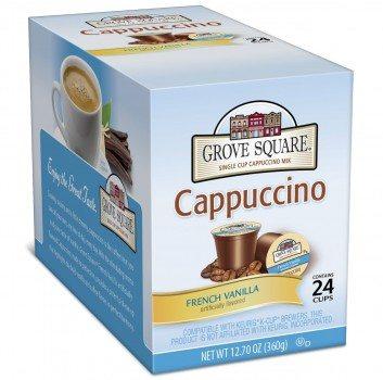 Grove Square Cappuccino, French Vanilla, 24 Count Single Serve Cups Deal