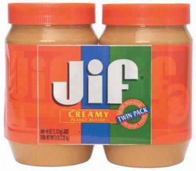 Jif Creamy Peanut Butter Twin Pack, 80 Ounce Deal