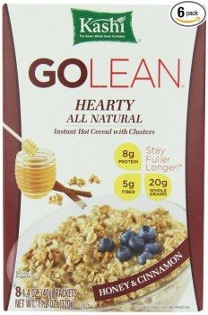 Kashi GOLEAN Instant Hot Cereal, Hearty Honey & Cinnamon, 11.28-Ounce Boxes (Pack of 6) Deal