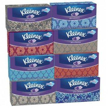 Kleenex Ultra Soft Tissues, White, 120ct, Pack of 8 Deal