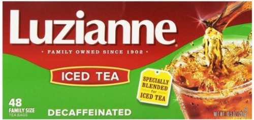 Luzianne Specially Blended for Iced Tea, Decaffeinated Family Sized, 48-Count Tea Bags Deal