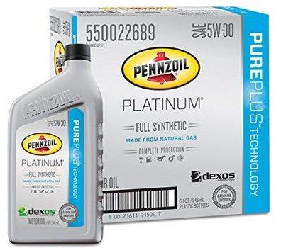 Pennzoil 550022689-6PK Platinum 5W-30 Full Synthetic Motor Oil - 1 Quart (Pack of 6) Deal
