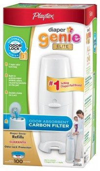 Playtex Diaper Genie Elite Pail System with Odor Lock Carbon Filter, 100 Count Deal