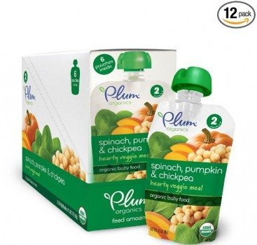 Plum Organics Second Blends Hearty Veggie Meal, Spinach, Pumpkin and Chickpea, 3.5 Ounce (Pack of 12) Deal