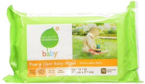 Seventh Generation Original Soft and Gentle Free and Clear Baby Wipes, 350 Count Deal