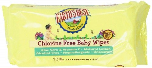 Earth's Best Chlorine-Free Wipes, Refill Pack, 864 Count Deal
