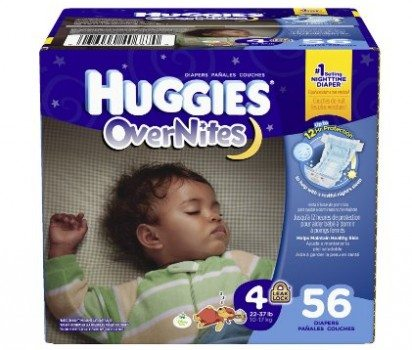 Huggies Overnites Diapers, Size 4, 56 Count Deal