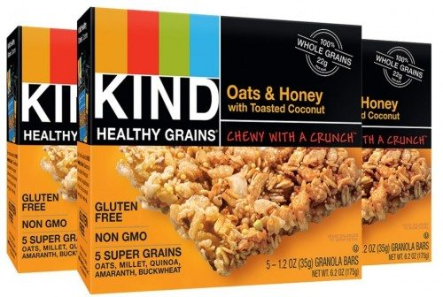 KIND Healthy Grains Granola Bars, Oats & Honey with Toasted Coconut, 1.2oz Bars, 15 Count Deal