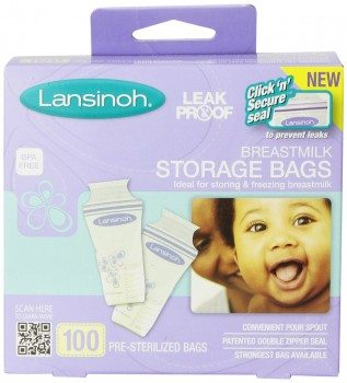 Lansinoh Breastmilk Storage Bags, 100 Count Deal