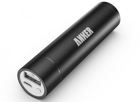 [Upgraded Capacity] Anker 2nd Generation Astro mini 3350mAh Lipstick-Sized Portable Charger External Battery Power Bank with PowerIQ Technology for iPhone, Samsung, GoPro and More (Black) Deal