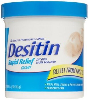 Desitin Diaper Rash Cream Rapid Relief, 16-Ounce Jar Deal