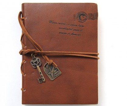 EvZ Diary String Key Retro Vintage Classic Leather Bound Notebook Dark Coffee Deal