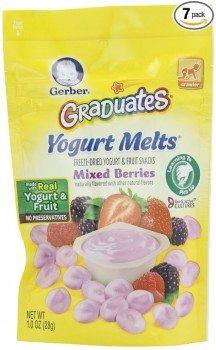 Gerber Graduates Yogurt Melts, Mixed Berry, 1 Ounce (Pack of 7) Deal