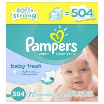 Pampers Softcare Baby Fresh Wipes 7x box, 504 Count Deal