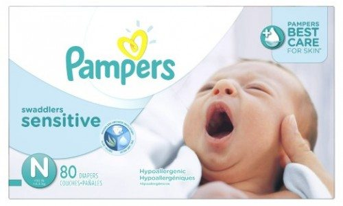 Pampers Swaddlers Sensitive Diapers Size N Super Pack 80 Count Deal