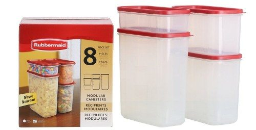 Rubbermaid 1776474 8-Pc. Modular Canisters Food System Deal