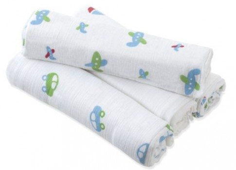 aden by aden + anais Swaddleplus, Boys-n-Toys, 4-Pack Deal