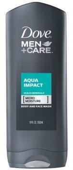 Dove Men+Care Body and Face Wash, Aqua Impact 18 oz Deal