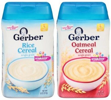 Gerber Baby Cereal Single-Grain Variety Pack, 8 ounce (Pack of 6) Deal