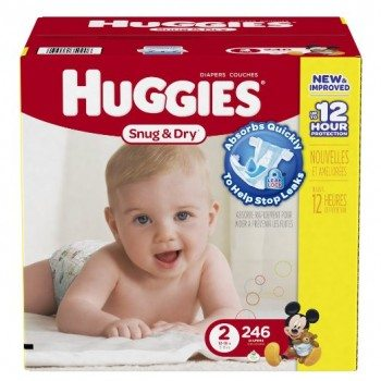 Huggies Snug and Dry Diapers, Size 2, Economy Plus Pack, 246 Count Deal