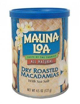 Mauna Loa Macadamias, Dry Roasted with Sea Salt, 4.5 Ounce Container Deal
