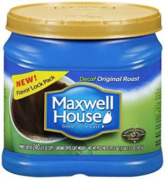 Maxwell House Decaf Ground Coffee Canister, Original Roast, 29.3 Ounce Deal