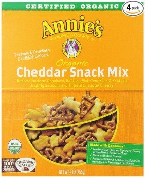 Annie's Homegrown Cheddar Organic Snack Mix, Bunnies Cheddar, 9-Ounce Boxes (Pack of 4) Deal