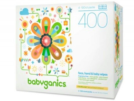 Babyganics Face, Hand & Baby Wipes, Fragrance Free, 400 Count (Contains Four 100-Count Packs) Deal