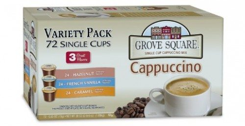 Grove Square Cappuccino Variety Pack, 72 Single Serve Cups Deal
