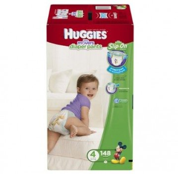 HUGGIES Little Movers Diaper Pants, Size 4, 148 Count Deal