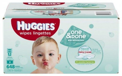 Huggies One & Done Refreshing Baby Wipes Refill, Cucumber and Green Tea, 648 Count (Packaging may vary) dEAL