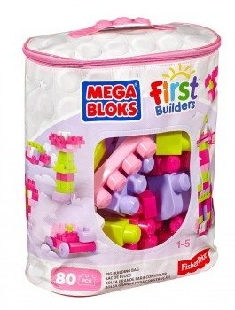 Mega Bloks First Builders Big Building Bag, 80-Piece (Pink) Deal
