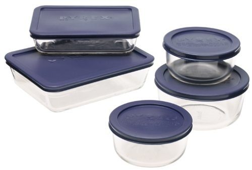 Pyrex Simply Store 10-Piece Glass Food Storage Set Deal