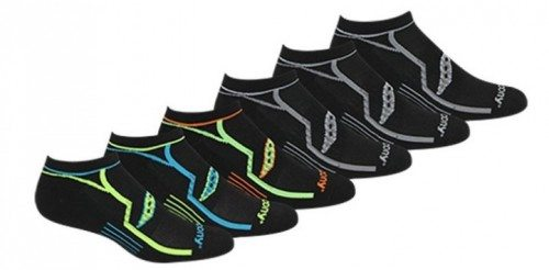 Saucony Men's Six-Pack Performance No-Show Socks Deal