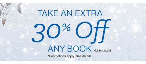 30% of any book at Amazon.com