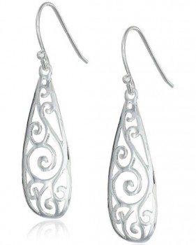 Sterling Silver Filigree Teardrop Earrings Deal