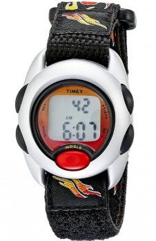 Timex Kids' T78751 Digital Flames Fast Wrap Velcro Strap Watch Deal