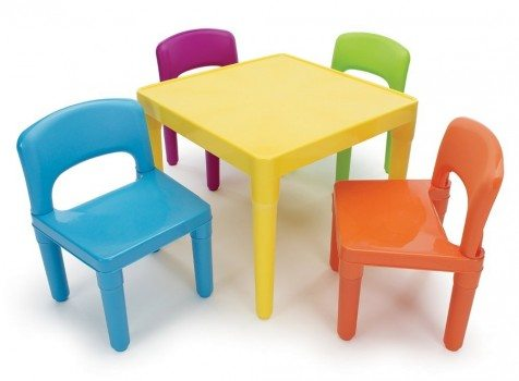 Tot Tutors Kids' Table and 4-Chair Set, Plastic Deal