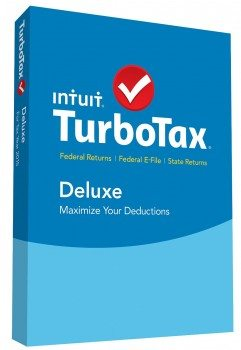 TurboTax Deluxe 2015 Federal + State Taxes + Fed Efile Tax Preparation Software - PC Mac Disc Deal