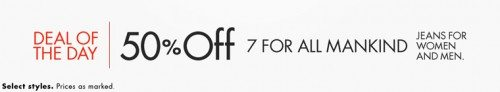 7 For All Mankind Jeans Deal