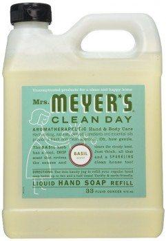 Mrs. Meyer's Liquid Hand Soap Refill, Basil, 33 Ounce Deal